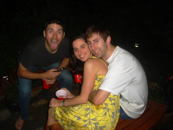 Our hosts for the Nantucket Week, Ben and Lauren (with goofy Tony)