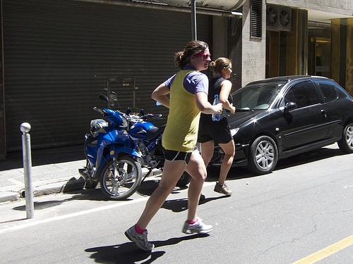 Meg and Leanne at Hash House Harriers Buenos Aires