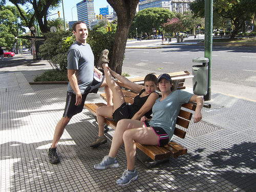 Stretching in Buenos Aires