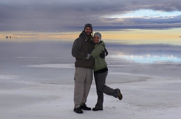 Living it up in the beautiful Bolivian Salt Flats