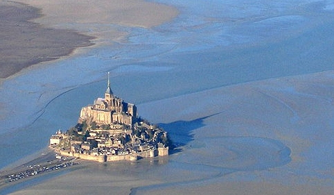 Low tide at Mont Saint-Michel