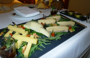 A solid cheese plate is a must for any great hotel!
