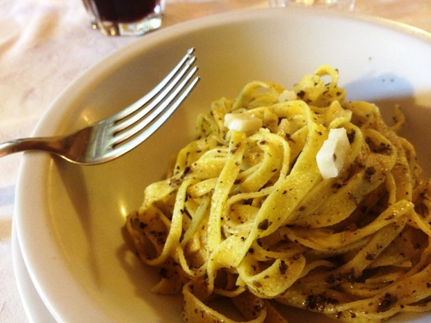 First time eating truffle pasta in Italy