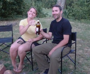 Tony and Allie relaxing on the farm after a hard day of work!