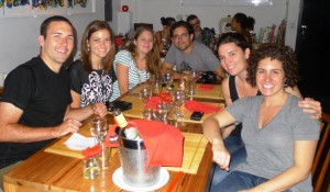Dinner in Buenos Aires with Leanne, Leah, Mike, and Steph