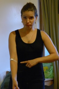Being a big baby about getting blood taken overseas!