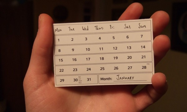 calendar card  january e1346422124456 Great & Inexpensive Resources For A Traveling Entrepreneur