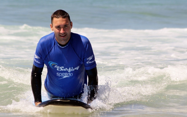 Tony Trying To Surf