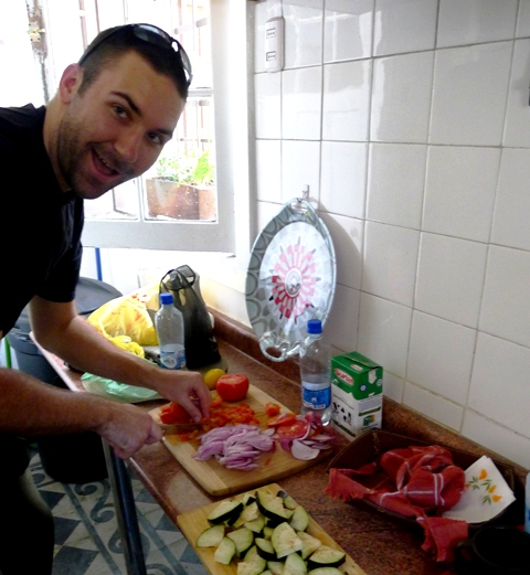 Cooking in a Hostel