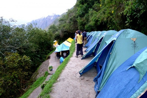 Picture of Campsite - Best Time To Visit Machu Picchu