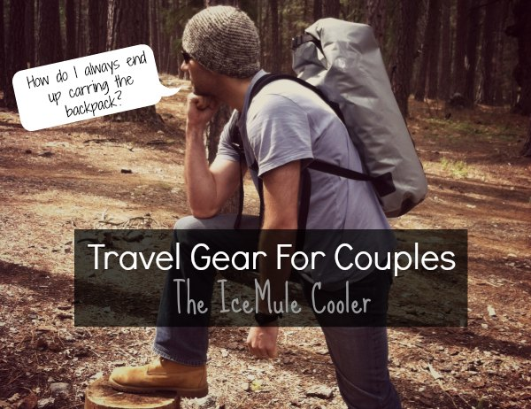 A backpack cooler for traveling couples