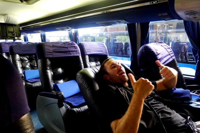 Cama Seat Overnight Bus South America Landingstanding